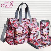 Waterproof Eco-Friendly Women Nappy Changing Stroller Travel Bags Shoulder Messenger Bags Baby Diaper Bag 6pcs/set L0009