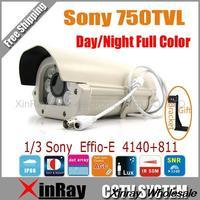 High-performance SONY CCD Effio-E 4140+811 750TVL Waterproof CCTV Camera,Day Night Full Color Camera XR-ICKA,EMS Free Shipping