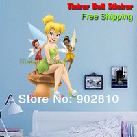 [listed in stock]- 28x55cm(11x22in) Tinkerbell Stickers Decal Decor Wall Self-adhesive Wallpaper Child (WS36YCC39)