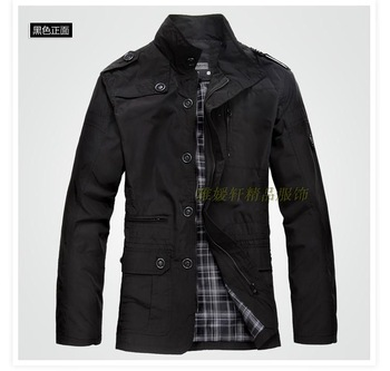 men jacket men's coat fashion clothes autumn overcoat outwear spring winter ...