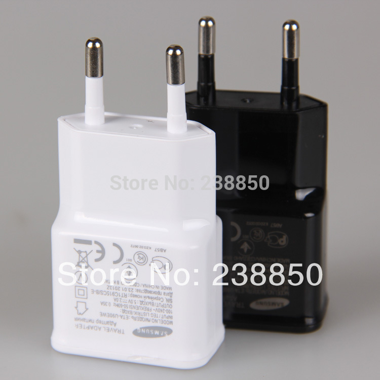 Black White 5pcs/lot USB EU Plug Wall 2A AC Power Chargers Adapter Travel For Samsung Galaxy Note 2 3 S3 S4Phone Accessories