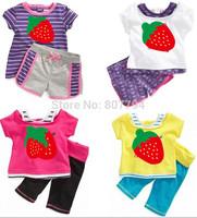 freeshipping!2014 new arrive brand track suit kid's 2 pcs set children clothes Set children sport suit two color 5set/lot