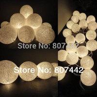 20 Balls/Set 20 Creamy white Cotton Balls Fairy String Lights Christmas,Wedding,Halloween,gift, Free Shipping