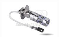 2pcs  H3 25W Cree XPE LED White cars Fog Head lights Bulb auto Lamp Vehicles Signal Tail  car light source   parking