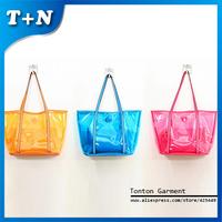 2014 Fashion Brand Transparent  PVC Women Clutch Lash Package  Purse Handbags Tote Bag