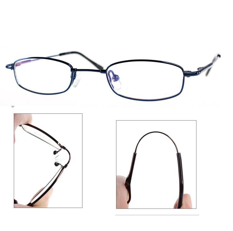 bendable titanium rimless 1 eyeglasses gunmetalblue