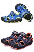 2014 child sandals male child sandals cowhide genuine leather baby shoes children big boy children  size 25-37