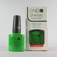 Free Shipping! New arrival Fashion Colors CND Shellac Soak off UV LED Nail Gel Polish 6pcs/lot 73 Colors Available