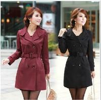 Spring 2014 windbreaker overcoat women medium-long sashes trench coat slim women casual dress trench coat for women q67