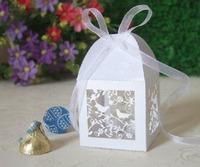 200 Laser Die Cut Candy Chocolate Boxes more color Birdcages LOVE BIRDS Decoration Wedding Favors Paper Cards Decorative