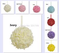 "8""(20cm) Wedding Foam Rose Shiny Gold Glitter Kissing Ball Flower Pomander Bouquet Ball + Crystal Pin"