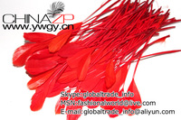 Free Shipping 6-8 inch 100Pcs/lot Top Quality Earring decoration Accessories Stage performances DIY Red Goose  Feather