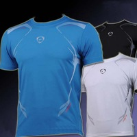 2014 new European and American high-quality quick-drying short-sleeved T-shirt men's outdoor casual sports clothes free shipping