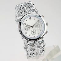 2014 New Fashion Brand Watch Analog Women Wristwatches Round Steel Case Ladies dress duplexes Quartz watches Hot Sale Promotions