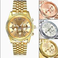 New 2014 New Women quartz watch full steel Wristwatches  reloj men's brand casual Watches analog alloy case dress watch hot sale