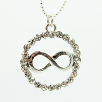 Ocean jewelry store 2014 new fashion circle infinity necklaces & pendants X361( $10 free shipping )