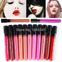 Amazing 11 Colors Waterproof Liquid Makeup Lip Stick Lip Pencil Lipstick Lip Gloss Pen Free Shipping(China (Mainland))
