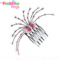 New Designer Fashion Vintage Flower Bowknot Rhinestone Hair Comb Clip Clamp Accessories For Women Girls Jewelry  Free Shipping