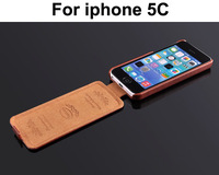 Luxury Vintage PU Flip Leather Case For iphone 5C Mobile Phone cases Bag Leather Cover With fashion Logo Drop Shipping