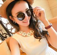 Free shipping! New 2014 fashion round women sunglasses, fashion designer sun glasses, top leopard GIRL UV400 summer accessories