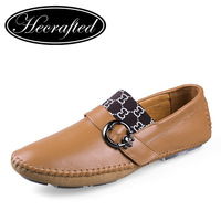 Handmade Genuine leather men Flat Casual driving shoes,Business men's shoes,size 35~47 original HECRAFTED brands