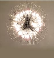 Free Shipping 2014 New Arrival Small 19 head glass dandelion pendant light restaurant bedroom lamp living room lights