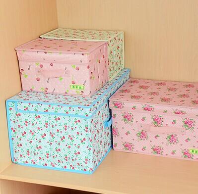 Free Shipping 2014 New 6736 Clothing Storage box Bra underware Organizer Home Storage Bin(China (Mainland))