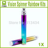 Vision Spinner Rainbow Battery  650mah 900mah 1100mah for Electronic Cigarette E Cigarette E-cig Kit for ce4 ce5 ce6 atomizer