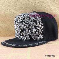HOT NEW Alloy Cross Hip Hop Adjustable Snapback Style Baseball Hat Free Shipping