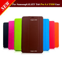 Orignal Smart Case Book Magnetic Flip Leather Cover For Samsung Galaxy Tab Pro 8.4 T320 T325 Ultra Thin Tablet ,1CS Free Postage