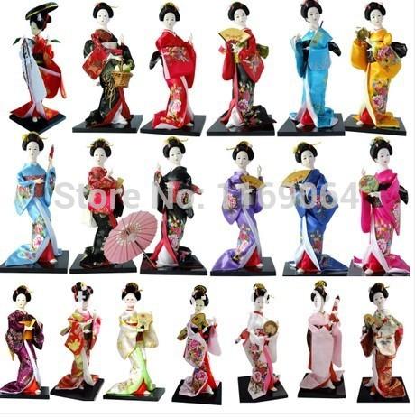 neuen 2014 japanischen stil puppe kimono geisha puppen hause crafts160