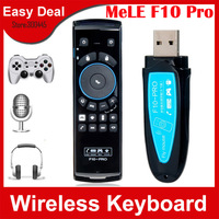 Mele F10 Pro 2.4GHz Wireless Keyboard Remote Control With Gyroscope Microphone Speaker Fly Air Mouse For Android TV Box Mini PC