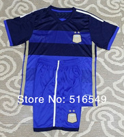 2014 World Cup Argentina away  Kids soccer jersey  top quality  children's soccer clothes free shipping