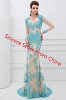 2014 fashion elegant vintage lace racerback sexy diamond evening dress luxury train evening dress banquet