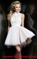 Racerback 2014 sweet princess puff skirt short design evening dress banquet dress evening dress evening dress