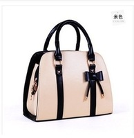 New 2014 Women Messenger Bags Fashion Bow PU Women Leather Handbag 8 colors Ladies Totes 29 * 12 * 22.5cm bolsas