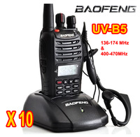 Hotel using mini Walkie Talkie Baofeng UV-B5 5W 99CH UHF+VHF A1011A Dual Band/Frequency /Display Two-way Radio 10pcs/lot