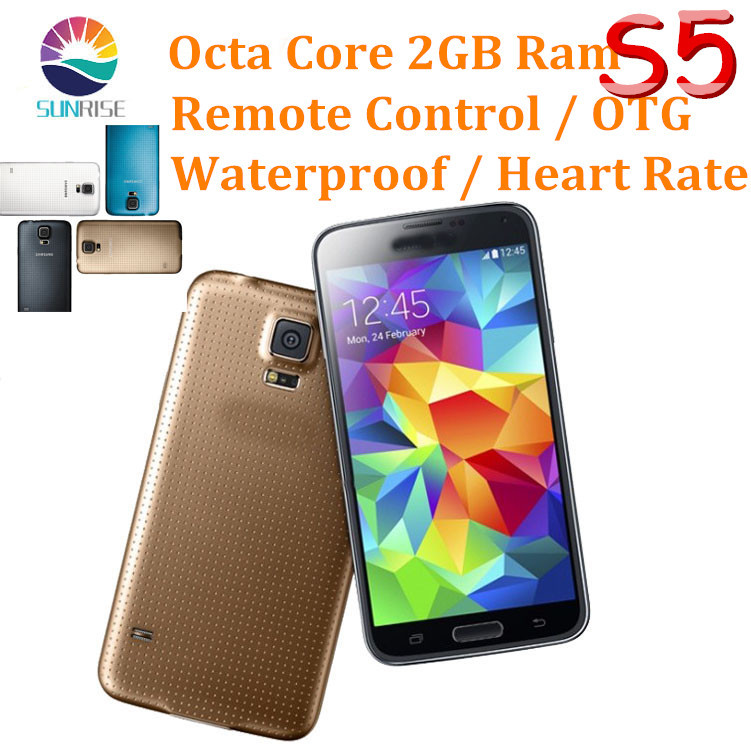 New Arrival Original S5 phone I9600 phone Octa Core 2GB RAM 8GB ROM Android 4.4 OS 16MP Camera Waterproof &am
