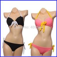200pcs Wholesale Women Bikini Set Beachwear Push Up Swimsuit New 2014 Bathing Suit Fashion Free Ship