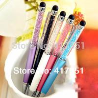10 pcs/lot,school office supplies,Multi-functional stylus Crystal pen Diamond ballpoint pens Stationery ballpen free shipping