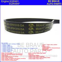 original parts: Chery Tiggo, A5 / A3 / Eastar, 481/484 engine, mv belt, drive belt 6pk1628 alternator belt