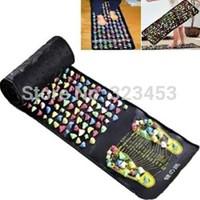 Health monitors Reflexology Walk Stone Foot Massage Leg Massager Mat Health Feet Care 1.8m x 0.35m