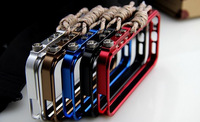 Strong Aluminum metal Bumper for iphone 5 5s 4 4s fashion luxury tought metal armor mobile phone bags & cases