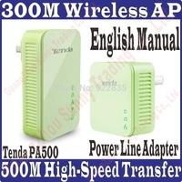 Tenda PA500 Kit N300 AV500 Powerline Wireless 300M Power line Adapter Extender WIFI hotspot 300Mbps Ethernet Network Adaptor