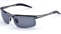 2014 New Men Aluminum Magnesium Polarized Fashion Man Driving Glasses Sun Sunglasses Coating Sunglass 4 Color Brand Eyeglasses