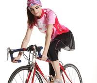 Gold buck 2014 spring and summer short-sleeve long ride clothing Women set mountain bike ride pants