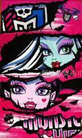Free Shipping New 2014 Original Monster High Towel Cotton Bath Towel Children Beach Towel Printed Terry Towel for Girls