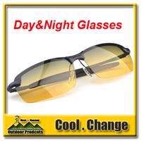 New 2014 Men Day and Night Dual-purpose Vision Driving Glasses Polarized Aviator Anti Glare And High Beam Light Sunglasses
