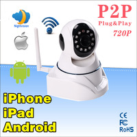 New arrive promotiom the lowest price 1.0 Megapixel 720P HD support 32G SD/TF card Pan & Tilt IP/Network mini ip Camera