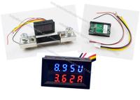 Dual display Meter LED DC 0-30V DC100A  Motorcycle DC Amp Meter Volt Meter  Voltmeter Ammeter 2 in 1 Panel Meter